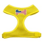 Bone Flag USA Screen Print Soft Mesh Harness Yellow Small